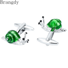 Brangdy metal exquisite green snail cufflinks mens French shirt high-quality suit luxury gifts