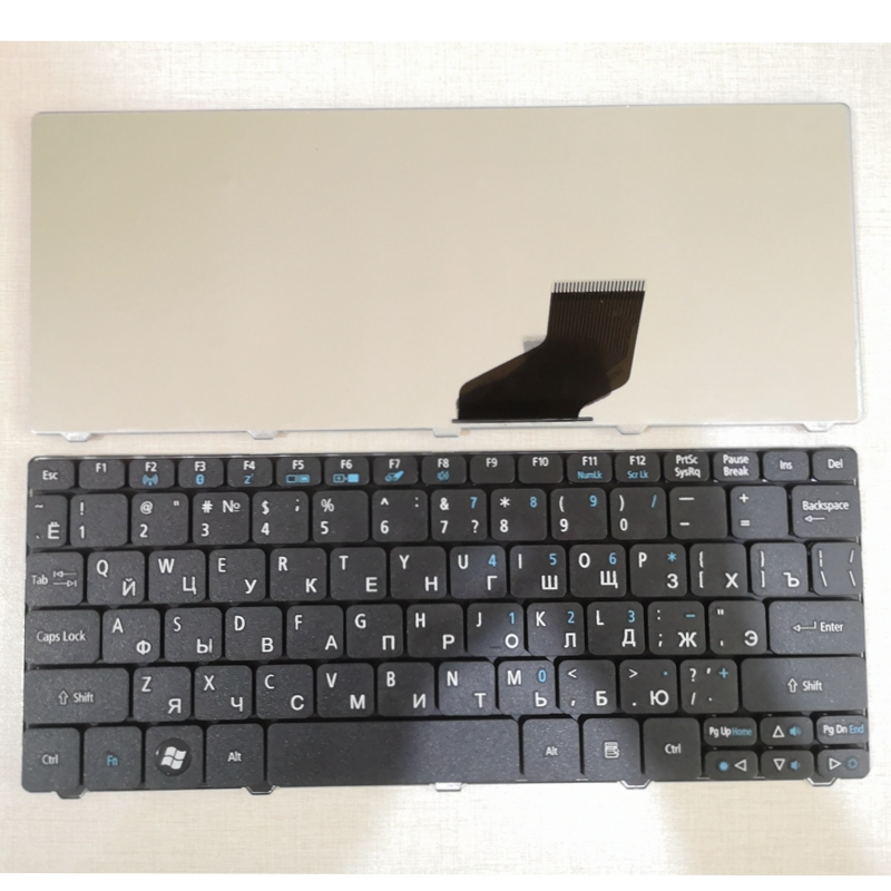 Русская клавиатура для Acer Emachines ZE6, ZE7, PAV70, PAV80, NAV50, 350, eM350, NAV51, 355, eM355, d256e, aod256e, NAV70, POVE6 RU, Черная