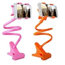 Универсальный держатель для мобильного телефона, 360 зажим гибкий хэндс-фри для дома, без шнуровки кровать клип автомобильный кронштейн для ...