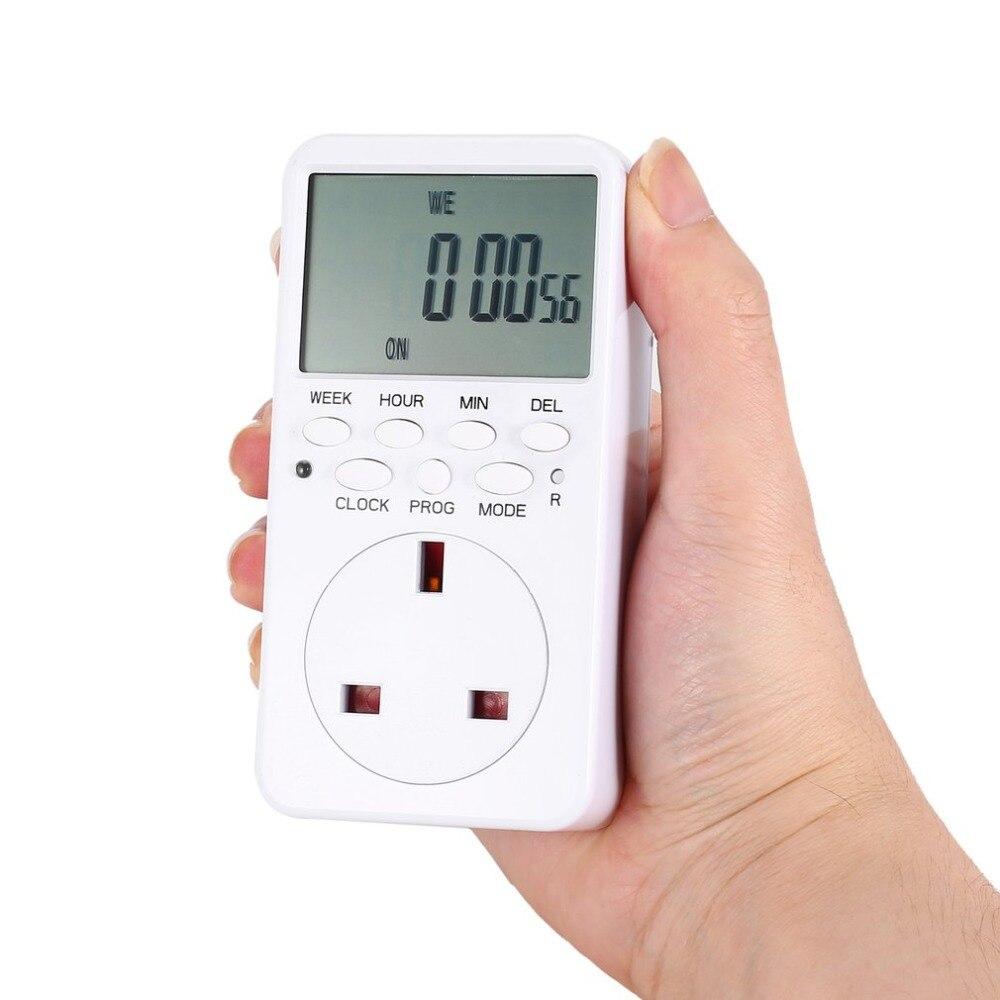 Mini Digital LCD 230V 16A temporizador interruptor toma de corriente tiempo de enchufe cuenta atrás ahorro de energía controlador electrónico programable Empleado escaneando huella dactilar en la máquina para registrar el tiempo de trabajo 2000 usuarios más baratos asistencia máquina TimeTrak sistemas