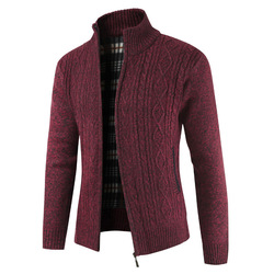 2019  Brand New Fashion Thick Sweaters Cardigan Coat Men Slim Fit Jumpers Knit Zipper Warm Winter Business Style Men Clothes 5