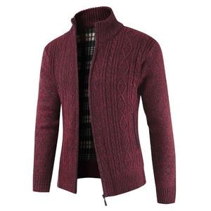 Image 5 - Brand New Fashion grube swetry sweter płaszcz mężczyźni Slim Fit swetry dzianiny zamek ciepły zimowy styl biznesowy mężczyzn ubrania