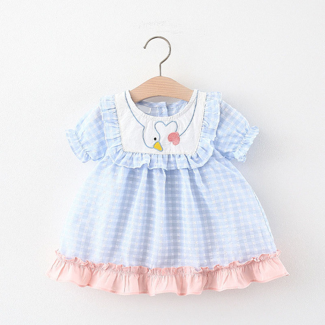 Baby Girl's Summer Patterned Dress with Hat 6