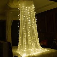 YINUO CANCLE 3*3m Led String Light 300 Christmas LED Fairy Curtain Light Garland for Garden Wedding Party Decoration LED Lights