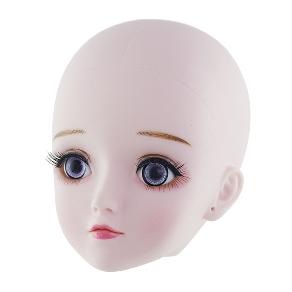1//6 BJD Doll Head Mold without Eyes Make up DIY Dolls Body Parts Supplies