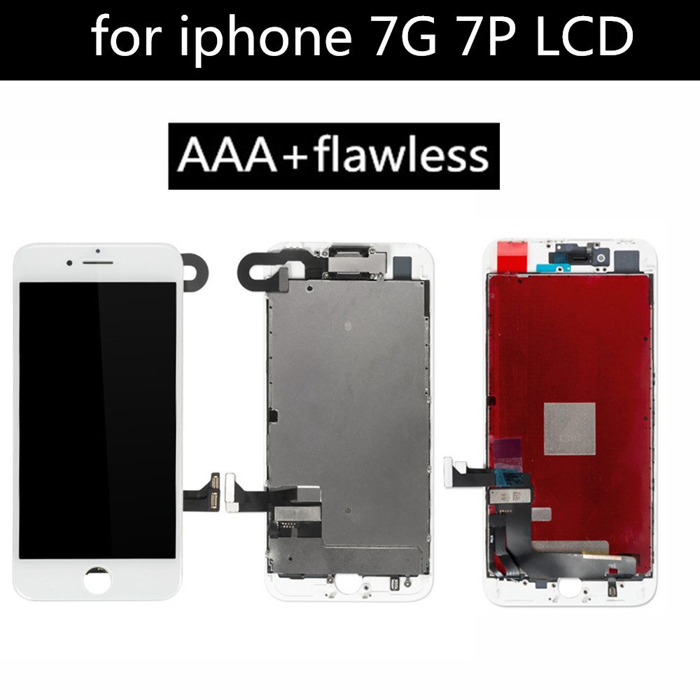 A+ LCD For iPhone 7 7 plus LCD Display Full Set Digitizer Assembly 3D Touch Screen Replacement + Front camera + Earphone Speaker image
