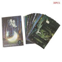 Greeting-Post-Card Gift Vintage Xmas 30pcs Forest-Streamer Animal Novelty Glow-In-The-Dark