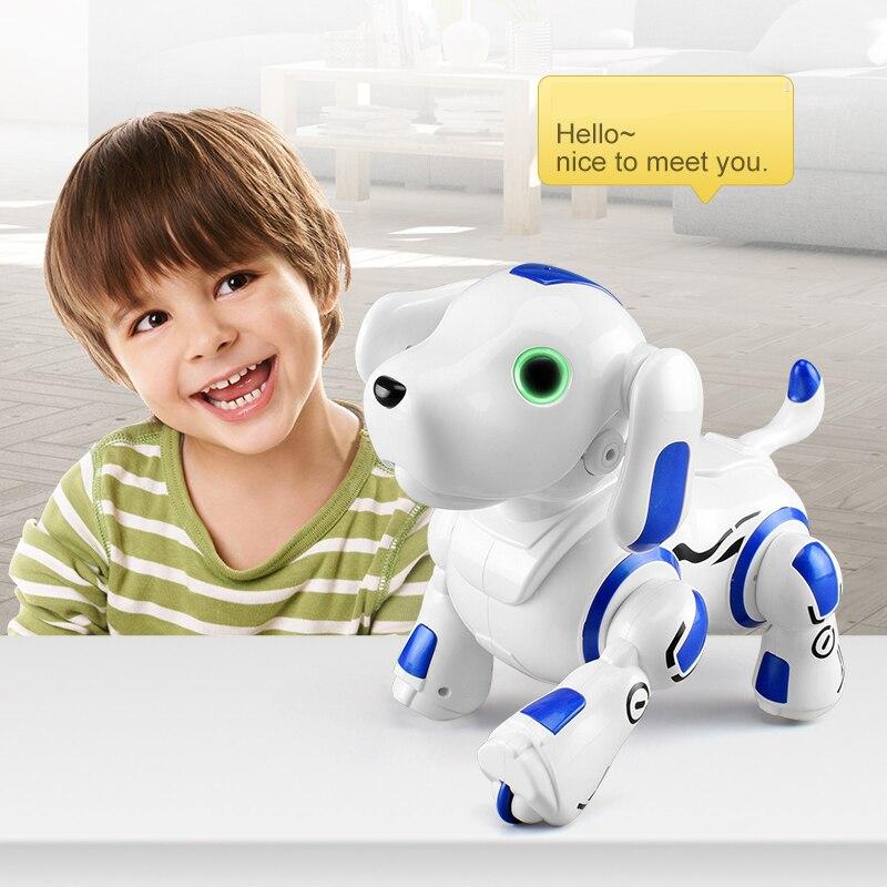 RC chien enfant jouets Intelligent robot chien électrique télécommande chiot dialogue machine puzzle enfants robots interactifs pour les enfants