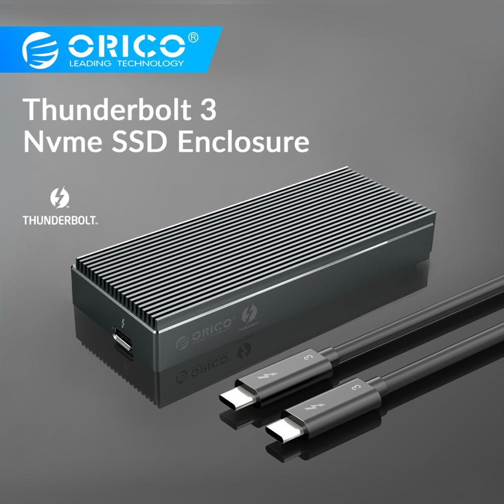 ORICO NVME M.2 SSD корпус Thunderbolt 3 алюминиевый корпус SSD 40 Гбит/с USB C к C кабель для Macbook/iMAC/Mac Pro/ Zenpad3 pr