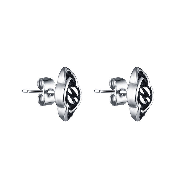 VE166 Vintage Female Chain Earrings Allergy One Pair Stainless Steel Earring Gift Jewelry Women Accessories