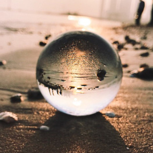 Image 2 - Globe K9 Clear Chandelier Lens Ball Crystal Glass Ball Crystal Ball Stand For Sphere Photography Decoration Home Decorative ball