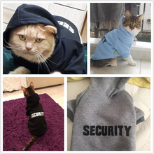 Cat Clothes Pet Security Coats Jacket Hoodies For Cats Clothing Outfit Warm Rabbit Animals Costume for Dogs Black