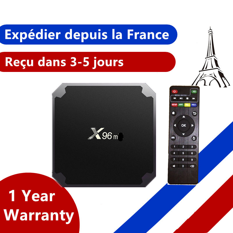 Best x96 iptv box Android 9.0 tv box 1G 8G 2G 16G Amlogic S905W smart ip tv set top box ship from france