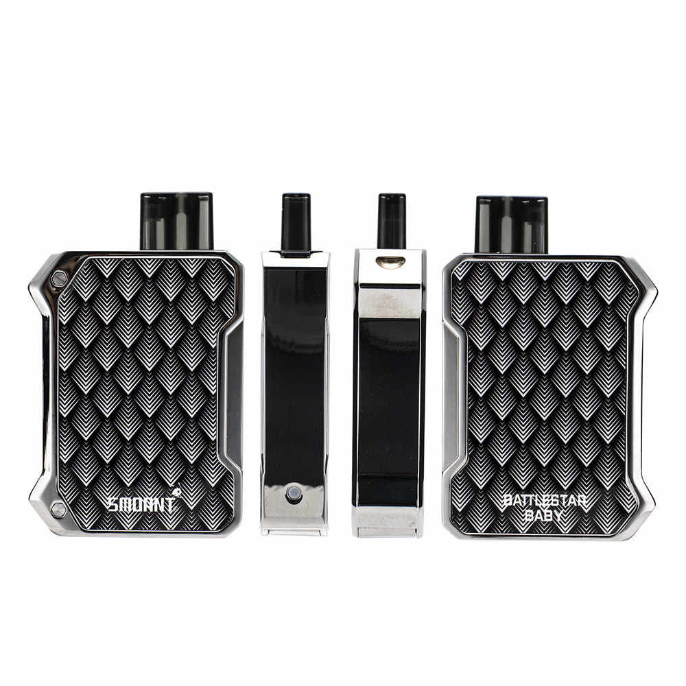 Original Smoant Battlestar Baby Kit 15w Built-in 750mAh Battery with 2ml Cartridge Pod Electronic Cigarette Vape Kit