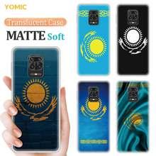 Étui drapeau Kazakhstan pour Xiaomi Redmi Note 9s 9 8 8T 7 9C Mi Poco X3 NFC 11 9A 9T 10T Pro 7A couverture en TPU mat translucide
