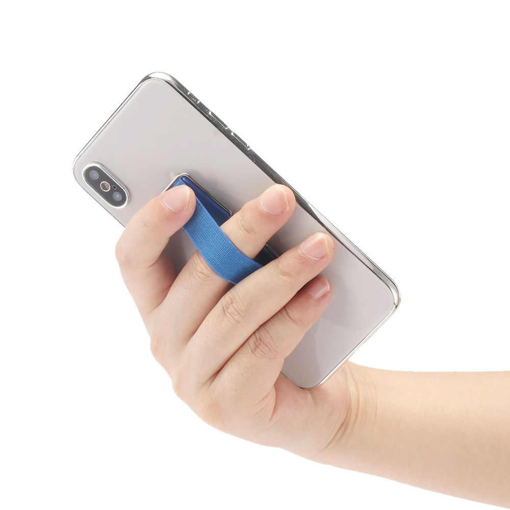 2019 novo suporte do telefone de montagem dedo aperto elástico banda cinta com suporte para smartphone kickstand suporte do telefone montagem dedo aperto