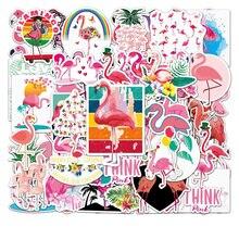 10/30/50PCS Flamingo Graffiti DIY Sticker Skateboard Notebook Gift Water Cup Waterproof Children Stationery Sticker Wholesale