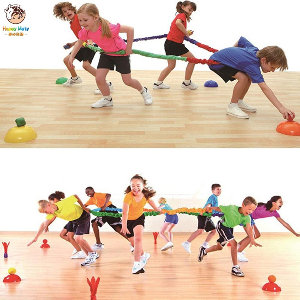 Elastic fleece cooperativa elástico banda integrações movimento dinâmico exercício equipe cooperação trabalho desenvolver esporte ao ar livre brinquedo