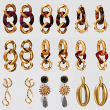 Best lady New Boho Resin ZA Earrings Dangle Fashion Simulated Pearl Jewelry Wedding Layer Gold  Drop Earrings Statement Gift Hot 2019 fashion new best selling alloy drop sequin earrings niche temperament simulated pearl dangle brincos for women jewelry gift