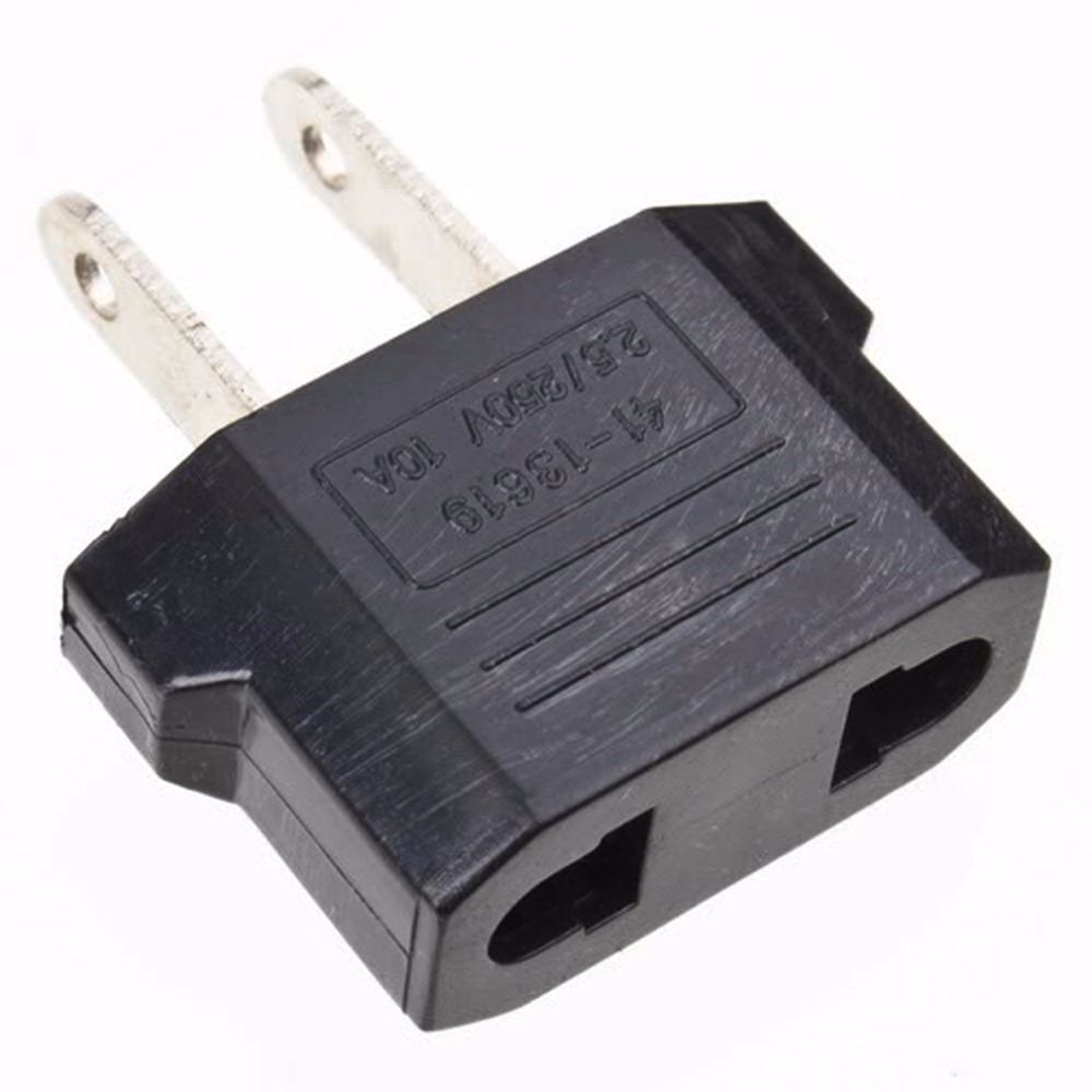 1Pcs Charger Converter Plug Adapter Black EU To US AC Power Plug Travel Charger Converter Adapter 10A Dropshipping US To EU