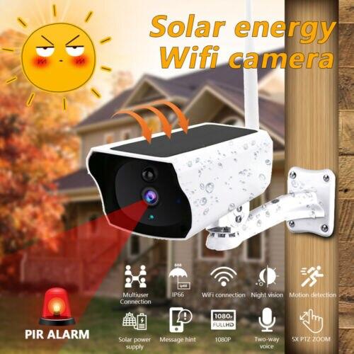 Wireless Solar Outdoor WiFi IP Camera 1080P HD Security Surveillance CCTV