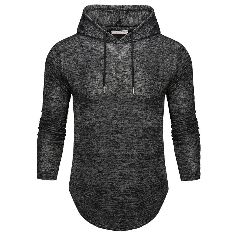 FFXZSJ Brand Men's Long-sleeved Hooded Casual T-shirt, Fashionable And Stylish T-shirt, Comfortable Cotton  European Size S-2XL
