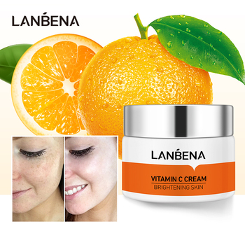 LANBENA Vitamin C Whitening Face Cream Hyaluronic Acid Moisturizing Improving Dull Skin Anti-Wrinkle Anti-Aging Firming Cream lanbena face cream skin care vitamin c serum whitening cream hyaluronic acid moisturizing anti wrinkle anti aging acne treatment