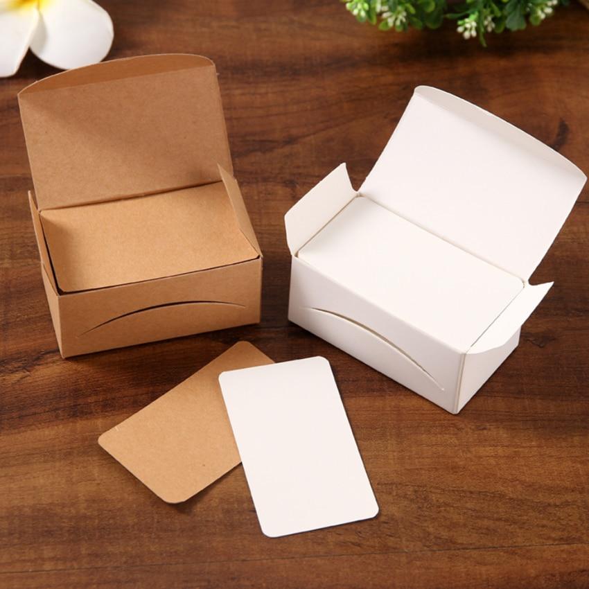 Cartão em branco para cartões de visita, cartão em branco para mensagem e nome do livro, 100 pçs/lote