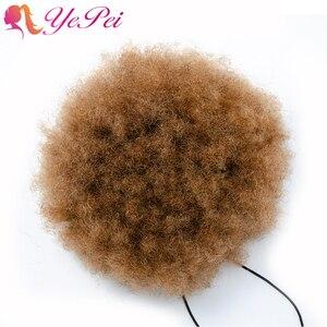 Image 5 - 6 นิ้วสั้น Afro พัฟ Drawstring หางม้า Hair คลิปใน Hair Bun Chignon Hairpiece สามารถซื้อ 2 pcs