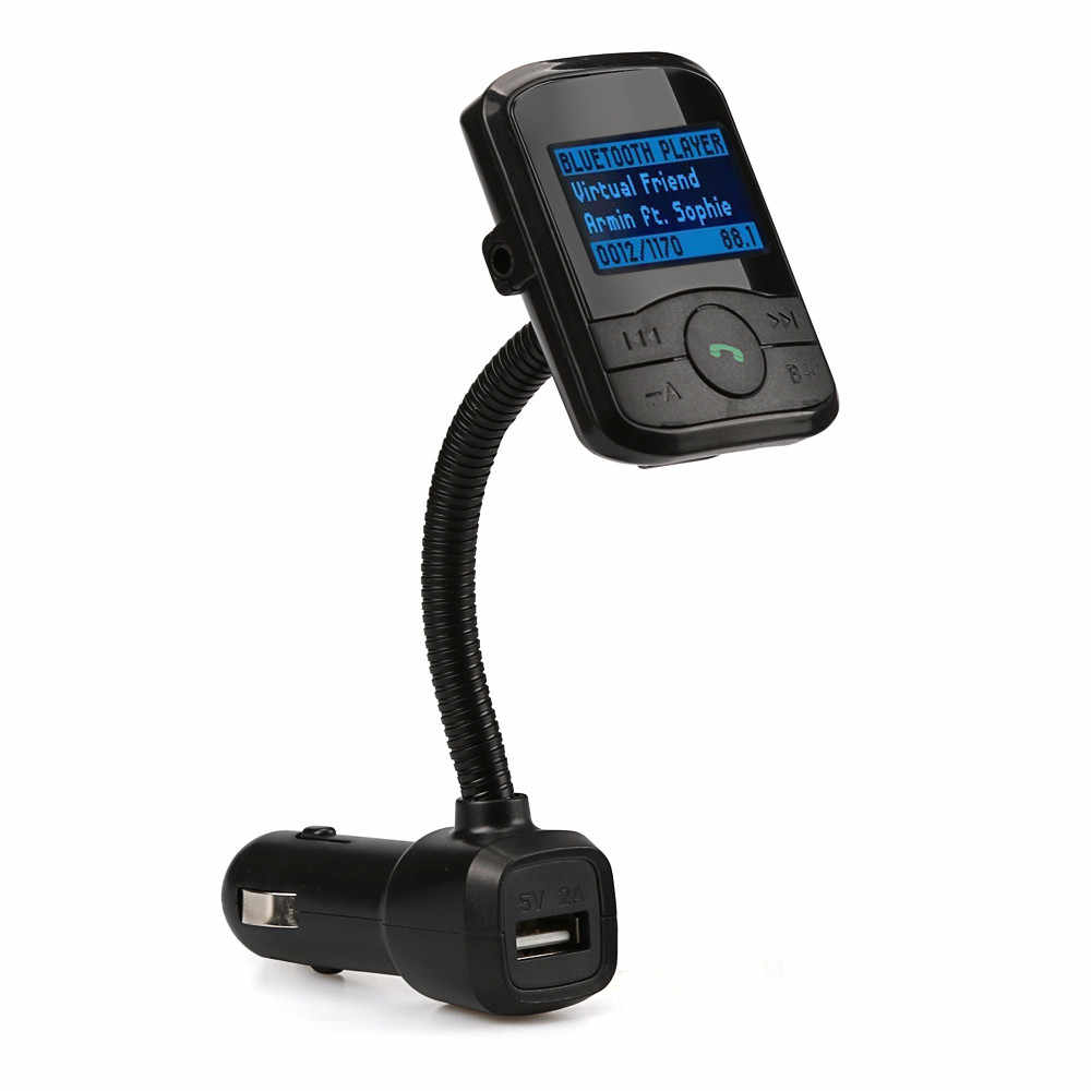 سيارة مشغل MP3 بلوتوث FM الارسال حر اليدين سيارة عدة الصوت MP3 المغير عرض شاحن سيارة SD MMC USB مع البعيد