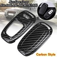 ABS Carbon Black Car Key Case Cover Remote key Shell Protector Fits For Audi A4L A5 A6L Q5 Q7 S6 A7 A8L|Key Case for Car| |  -