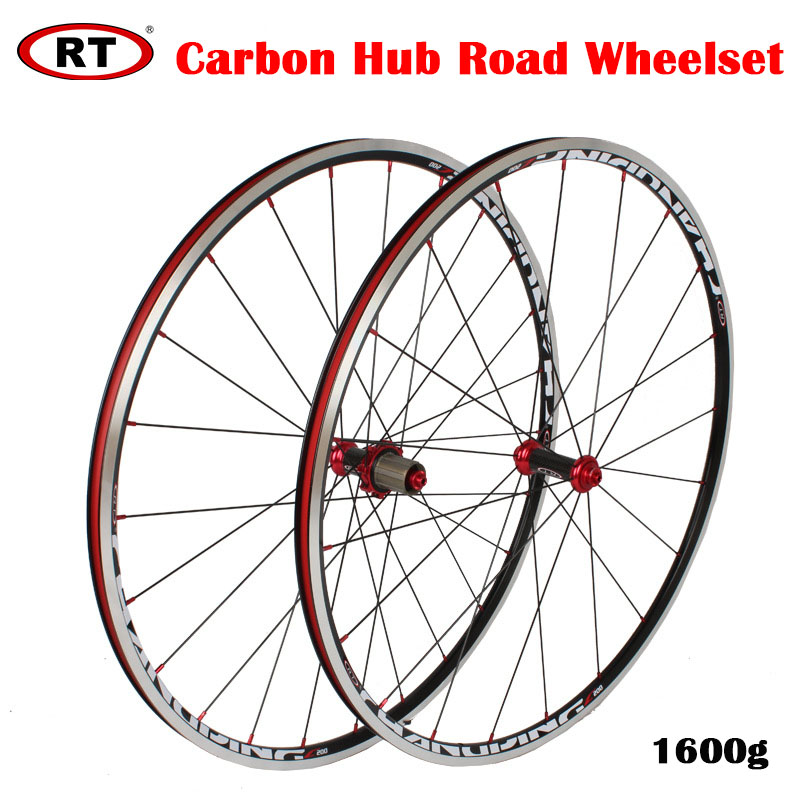 120 Sounds Road Bike <font><b>Wheelset</b></font> V BrakeCarbon Hub Super Light <font><b>RT</b></font> C200 700C Bicycle Road Wheel Set Wholesale image