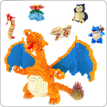 DIY Pokemon Mini building blocks toys bricks Pikachu Charizard Japanese Anime Diamond Doll Pocket Monster Children Gifts toy lno 217pcs charizard pokemon building block