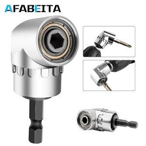 Image 1 - 105 Degree Angle Screwdriver Set Socket Holder Adapter Adjustable Bits Drill Bit Angle Screw Driver Tool 1/4inch Hex Bit Socket