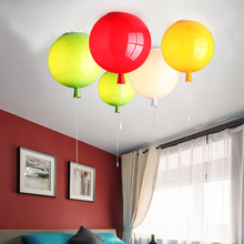 Children Room Lamp Balloon Pendant Light Dia 25cm 6 Colors Acrylic fixture home deco Bedroom E27 Energy-saving Lamps modern kid s 6 colors balloon acrylic ceiling light fixture home deco children bedroom e27 bulb ceiling lamps with switch
