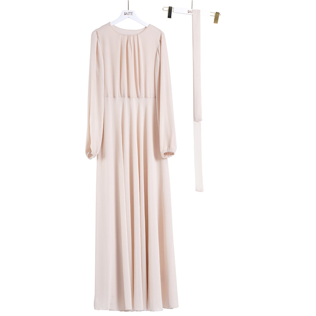 Hot Deal 51d7 Chiffon Women Abaya Turkey Hijab Muslim Dress Kaftan Dubai Islam Clothing Caftan Abayas Dresses Robe Musulman European Clothing Cicig Co