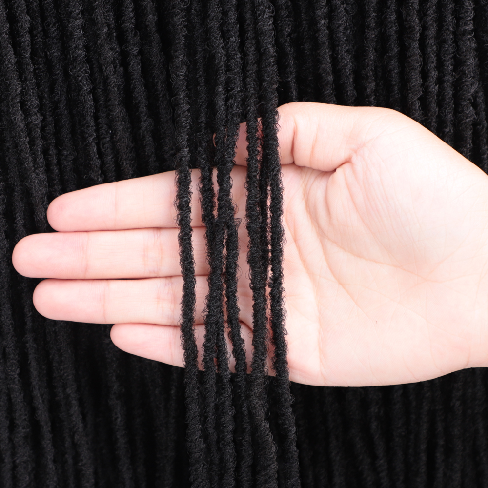 18 Inch Sister Locks Hair Extensions Pure Color Blonde/Brown/Bug/Black Dreadlocks Synthetic Hair For Women Crochet Hair