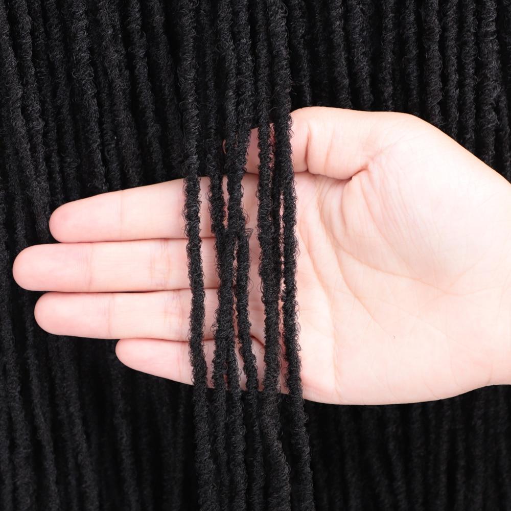 18 Inch Sister Locks Hair Extensions Pure Color Blonde/Brown/Bug/Black Dreadlocks Synthetic Hair For Women Crochet Hair