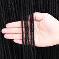 18 дюймов сестра замки волос Однотонная одежда белый/коричневый/ошибки/черный дреды синтетические волосы для Для женщин накладные волосы на...