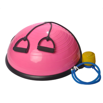 Portable Inflatable Yoga ball Balance Hemisphere Fitness for Gym Office Home Pink High quality with low price