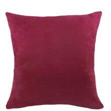 Мягкая бархатная наволочка для подушки квадратная кровать обнимающая Подушка Чехол с рождественским Рождеством чехол для подушки для Новогоднего декора красный/зеленый 40X40 см