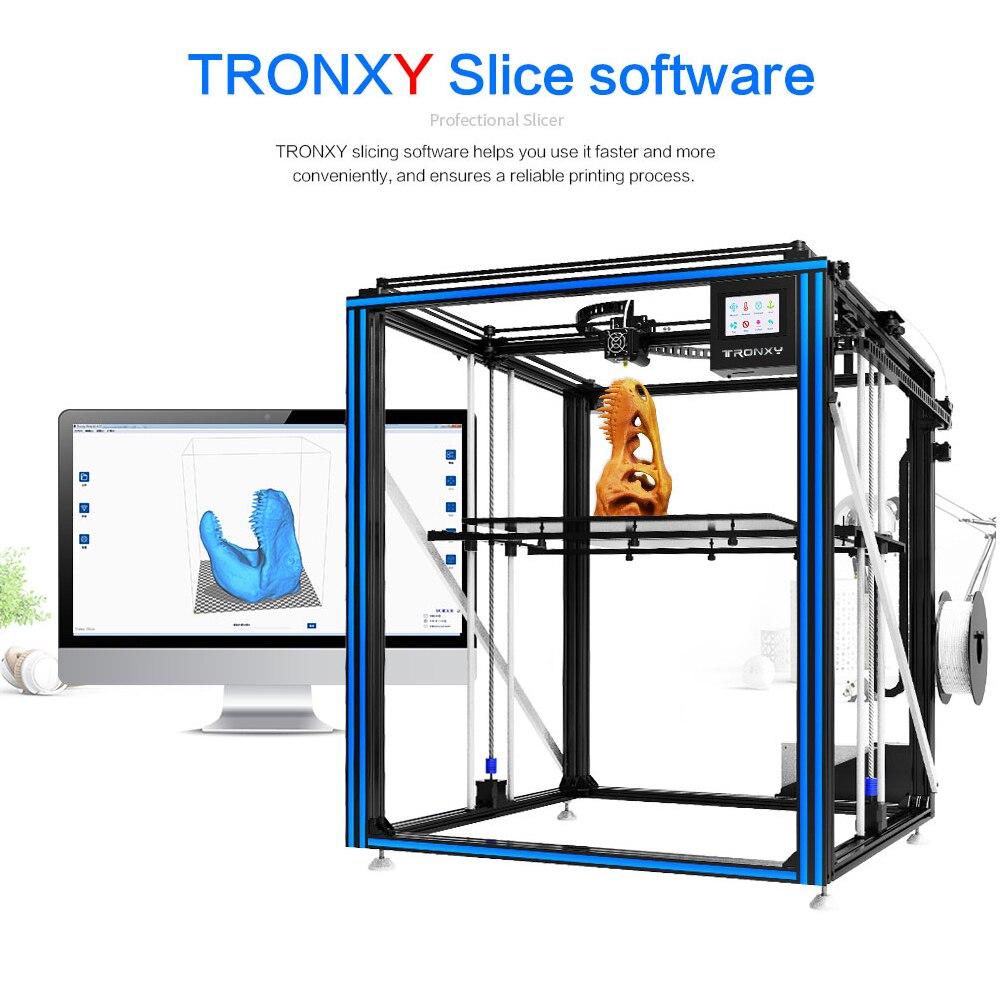 Новое поступление tronxy DIY 3D принтер X5SA-500 большой размер печати Полноцветный Сенсорный экран PLA ABS Тепловая настольная нить машина датчик