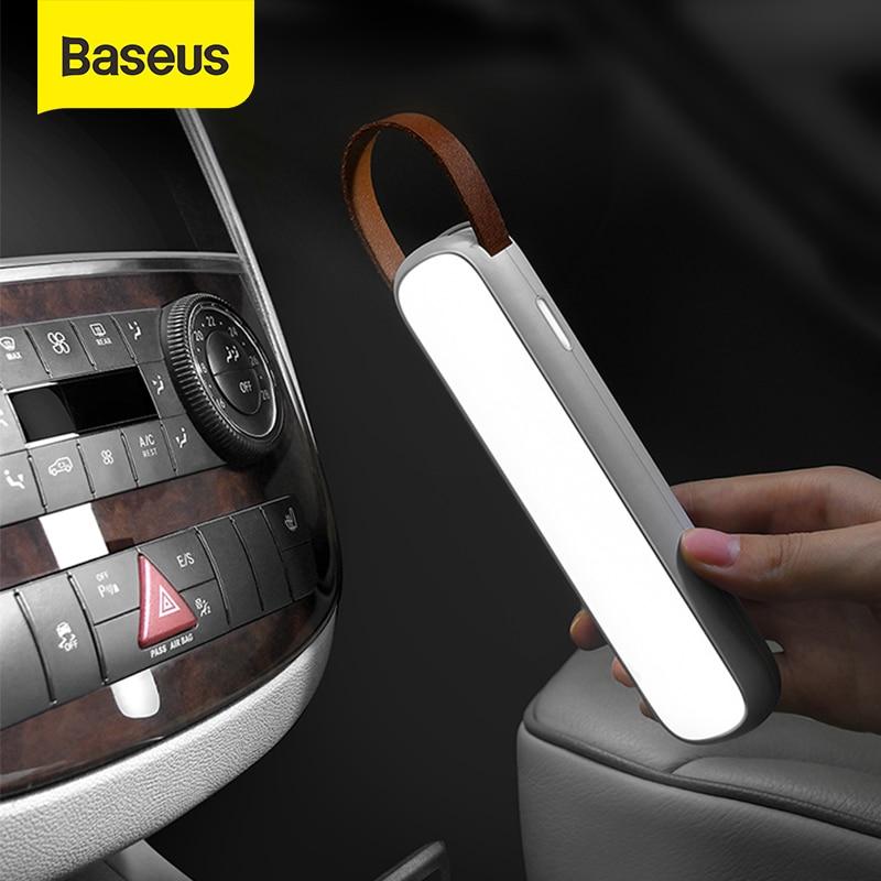 Baseus solaire voiture lumière LED Rechargeable durgence Auto intérieur lampe de lecture Portable veilleuse magnétique voiture Signal lampe