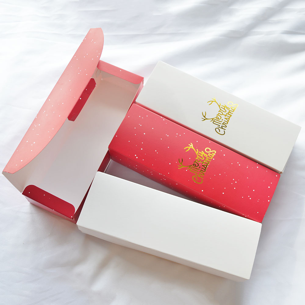 MissYe Store Merry Christmas Design Gift Wrap Storage Paper Box As Gift Packaging DIY Four Style Candy Chocolate Pack