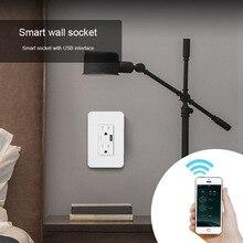 Интеллектуальная беспроводная(Wi-Fi) настенная розетка с USB Интерфейс мульти Порты и разъёмы в-стенная розетка Поддержка app дистанционного Управление GK99