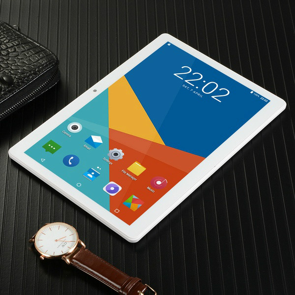 2020 New 4G Call Phone Tablet 10.1 Inch HD Large Screen Android 8.10 Version Fashion Portable Tablet 6G+128GB Black Gold Tablet
