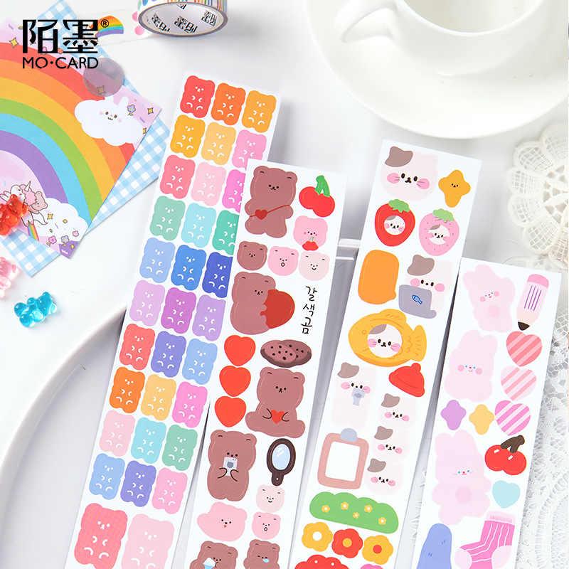 חיות מחמד שקוף Washi קלטת רקמת אחוזה סדרת מיסוך רעיונות נייר יומן קרפט אספקת מכתבים ZR2260