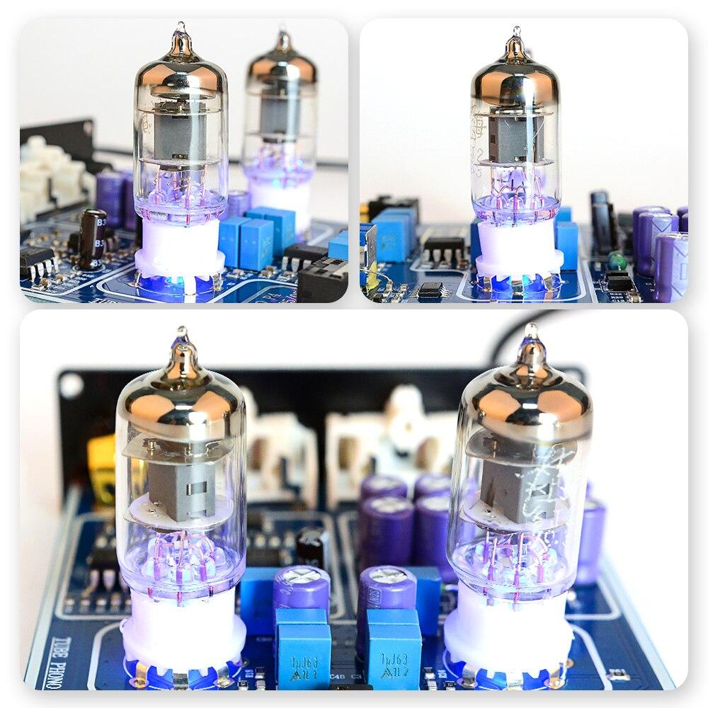 AIYIMA 6J2 Tube à vide MM Phono platine vinyle préamplificateur HiFi stéréo phonographe préampli amplificateur vinyle lecteur de disque pour la maison bricolage - 6