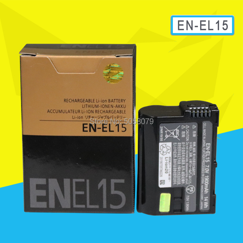 EN-EL15 Battery EN EL15 ENEL15 Camera Batteries Pack For Nikon D600 D610 D600E D800 D800E D810 D7000 7100 D75