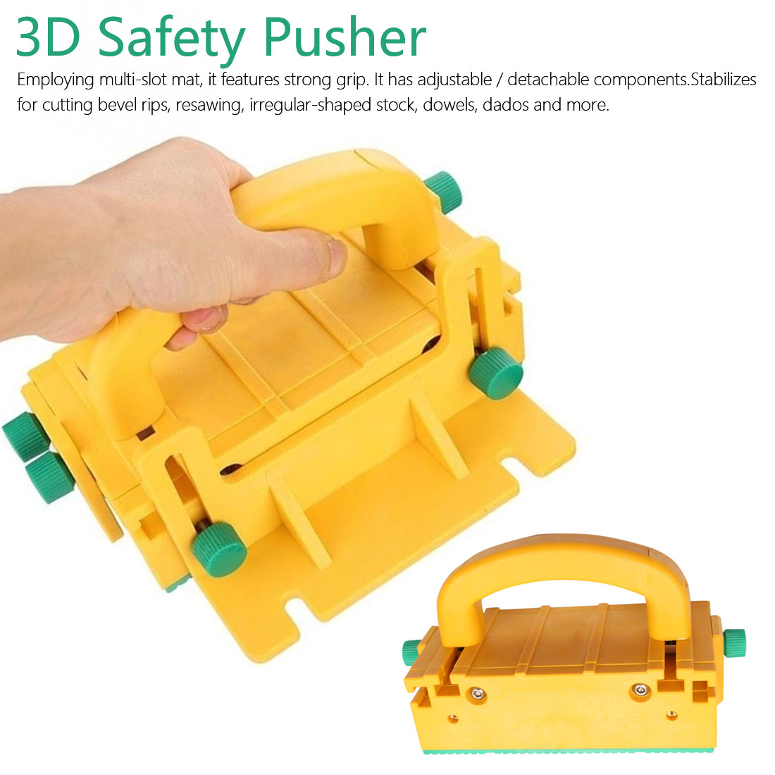 3D Safety Pusher Woodworking Flip Table Saw Vertical Milling Planer Saw Pusher Safety Feeder Woodworking Safety Assistant Tools
